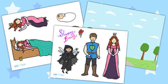 Sleeping Beauty Story Cut Outs - sleeping beauty, story, cut outs
