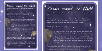 Pleiades around the World Large Information Poster - New Zealand, Matariki, New Year,Maori, Celebration, Festival