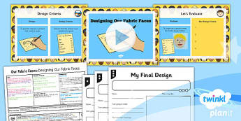 PlanIt - DT KS1 - Our Fabric Faces Lesson 5: Designing Our Fabric Faces Lesson Pack
