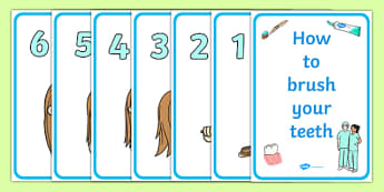 How To Brush Your Teeth Display Posters - Dentists/Dental Surgery Role Play Pack,teeth, brushing teeth, dentist, dental nurse, checkup, teeth, dental care, dental health, filling, extraction, health, role play, display, poster