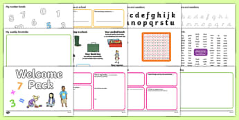 KS1 Welcome Pack - Back to school, welcome pack, welcome, starting school, all about me, about me, starting nursery, starting KS1