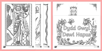 St. David's Day Mindfulness Colouring Pages - St David's Day Mindfulness, St David's day, st davds day, st david's day, Saint davids day, saint