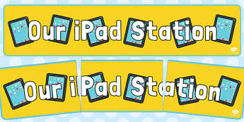 Our iPad Station Display Banner - our, ipad, station, display banner