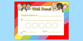 Ourselves Sticker Reward Certificates (30mm) - Ourselves Reward Certificate (30mm), reward certificate, certificate, ourselves, reward, 30mm, stickers, twinkl stickers, award, certificate, well done, behaviour management, behaviour