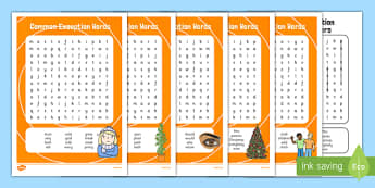 Common Exception Words Year 2 Word Search Pack - common exception words, year 2, word search, pack