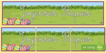Banderole d'affichage : Pâques - Pâques, pâques, paques, joyeuses pâques, banderole, affichage, Easter 2017 (16th April), happy ea