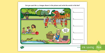 Phase 5 e-e Find the Words Scene Activity - phonics, letters and sounds, phase 5, e-e sound, magnifier, magnifying glass, find, activity, group,