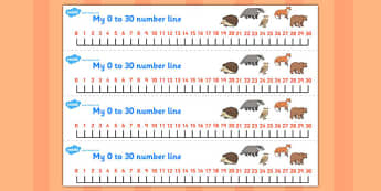 The Mitten Number Lines 0-30 - the mitten, number lines, 0-30