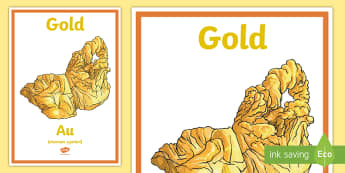 Gold A4 Display Poster - Australian colony, ACHASSK108, gold, gold rush, Australian Gold Rush,  ACHASSK109,Australia