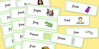 FR Word Cards - fr, word cards, word, cards, sen, sound, fr sound, speech, language