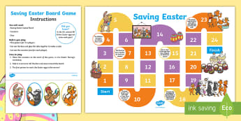 Saving Easter Board Game - Children's Books, children, book, books, story, stories, Twinkl, original, Saving Easter, save, sav