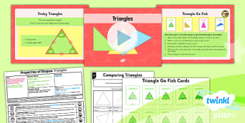 PlanIt Y4 Properties of Shape Lesson Pack Geometric Shapes (1) - Properties of Shapes, Triangles, 2D shapes