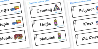 Cygnet Themed Editable Construction Area Resource Labels - Themed Construction resource labels, Label template, Resource Label, Name Labels, Editable Labels, Drawer Labels, KS1 Labels, Foundation Labels, Foundation Stage Labels