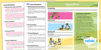 PlanIt - Geography Year 6 - Raging Rivers Planning Overview - planit, geography, overview, cfe