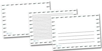 Shark Landscape Page Borders- Landscape Page Borders - Page border, border, writing template, writing aid, writing frame, a4 border, template, templates, landscape