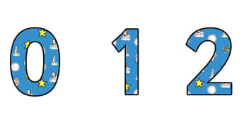 Neil Armstrong Themed A4 Display Numbers - neil armstrong, display numbers, numbers, numbers for display, themed numbers, classroom display, display