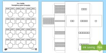Gra z kostka Dziesiątkowy system pozycyjny - gra, kostka, kostki, karciana, system, układ, pozycyjny, zapis, liczb, dziesiątkowy, dziesiętny,