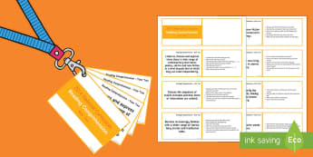 Lanyard Sized Year Two Reading Comprehension Objectives Cards - KS1,year two year 2, objectives, reading comprehension objectives, character, story, traditional tal