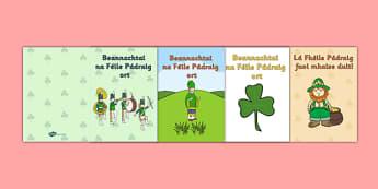Irish Gaeilge Saint Patrick's Day Greeting Card Templates - greeting cards, templates, Irish, Saint Patrick's Day, art