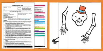 EYFS Build a Skeleton Game Adult Input Plan and Resource Pack
