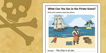 Pirates Writing Stimulus Picture