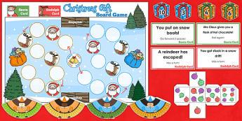 One More Than Christmas Board Game - christmas, board game, math