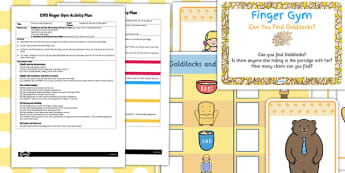 EYFS Can You Find Goldilocks Finger Gym Activity Plan and Prompt Card Pack