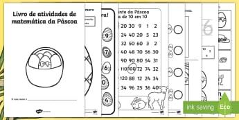 Livro de atividades de matemática da Páscoa - Livro de atividades de matemática da Páscoa - páscoa, matemática, atividades, livro