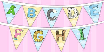Animal Alphabet Display Bunting - animal, alphabet, display, bunting