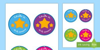 Collares: Estrella de la semana - collar, encargos, tareas, independencia, premios,Spanish-translation