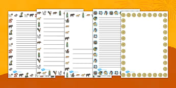 Chinese New Year Story Page Borders - chinese, story, page border