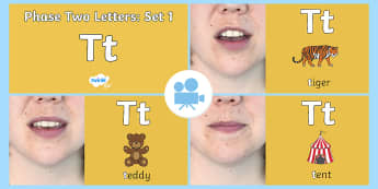 Phase Two Phonemes: Set 1: 't' Video - Phonics, satpin, Letters, Sounds, Satp
