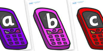 Phoneme Set on Mobile Phones - Phoneme set, phonemes, phoneme, Letters and Sounds, DfES, display, Phase 1, Phase 2, Phase 3, Phase 5, Foundation, Literacy