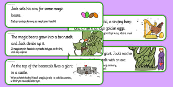 Jack and the Beanstalk Story Sequencing Cut and Stick Activity Polish Translation - polish, jack and the beanstalk, story sequencing, sequencing, cut and stick, cut, stick, stories