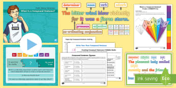 What Is a Compound Sentence? Resource Pack - what is a compound sentence, compound sentence, multi-clause sentence, sentences, sentence types, co