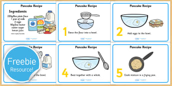 Pancake Recipe Sheets With Measurements - pancakes, pancake day