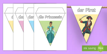 Costumes Display Bunting German - German, Carnival, Fasching, Costumes, clothes