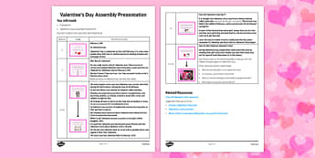 Valentine's Day Assembly Script - Valentine's Day, Assembly, script