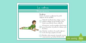 Yoga para niños: La cobra - Yoga, posturas, yoga para niños, calmarse, relajarse, consciencia corporal, consciencia emocional,S