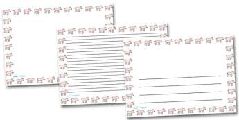 Piglet Landscape Page Borders- Landscape Page Borders - Page border, border, writing template, writing aid, writing frame, a4 border, template, templates, landscape