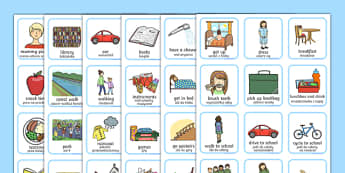 Daily Routine Visual Timetable for Girls Polish Translation - daily routine, visual timetable, girls, routine