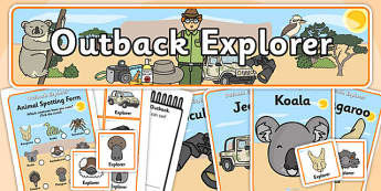 Outback Explorer Role Play Pack - outback explorer, role play, role play pack, resource pack, outback explorer role play, explorer role play, explore