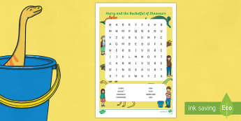 Word Search to Support Teaching on Harry and the Bucketful of Dinosaurs - wordsearch