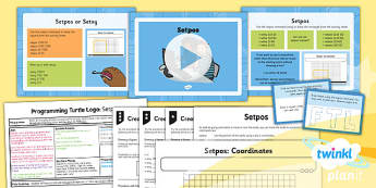 PlanIt - Computing Year 4 - Programming Turtle Logo Lesson 2: Setpos Lesson Pack