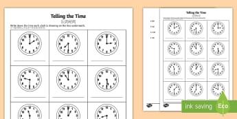 O' Clock and Half Past Times Activity Sheet English/Mandarin Chinese - O'clock and Half Past Times Activity Sheet - o'clock, half past, times, activity,Timw, worksheet,E