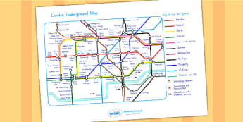 London Underground Map - london, london underground, transport