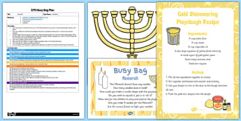 Menorah EYFS Busy Bag Plan and Resource Pack - menorah, busy bag, resource, pack