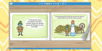 Rumpelstiltskin eBook - book, interactive book, traditional tales