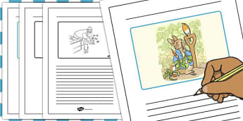 The Tale of Peter Rabbit Story Writing Frames - writing, story