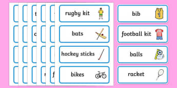 Sports Shop Role Play Word Cards - Sports, sport, shop, equipment, word cards, flashcards, being healthy, keeping fit, equipment, football, rugby, cricket, ball, PE